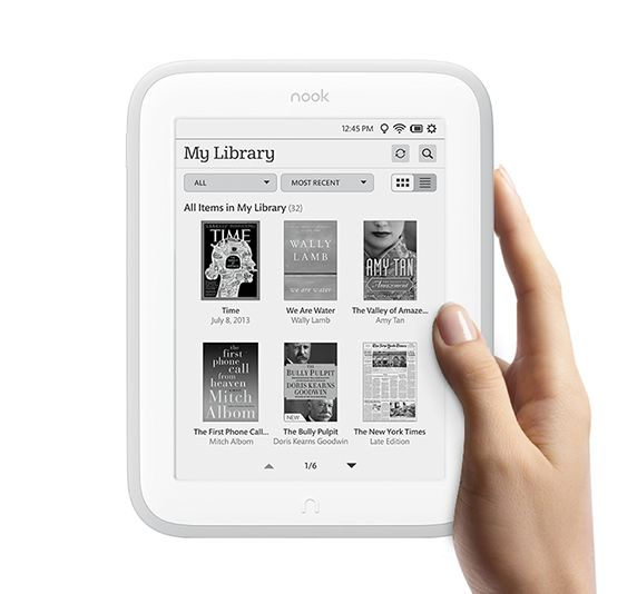 Электронная книга Barnes&Noble Nook Wi-Fi The Simple Touch with Glowlig